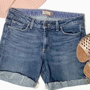 Paige by Anthropologie denim cut off shorts